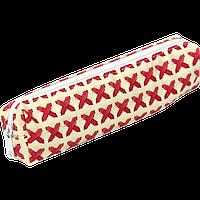 Пенал ZiBi прямоугольный 19 x 4 x 3 см, искусственная кожа, бежевая плетенка (ZB16.0458)