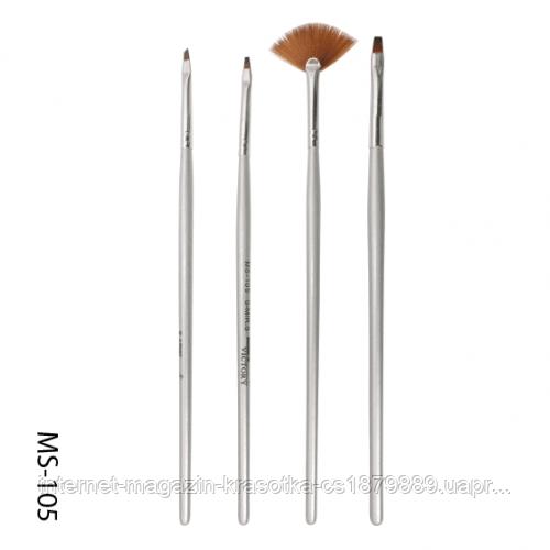 Набор кистей для дизайна и рисования 4шт SK-17 (MS-105)