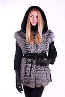 Полушубок жилет из каракульчи и чернобурки SWAKARA and silver fox silverfox convertible fur coat&vest, фото 1
