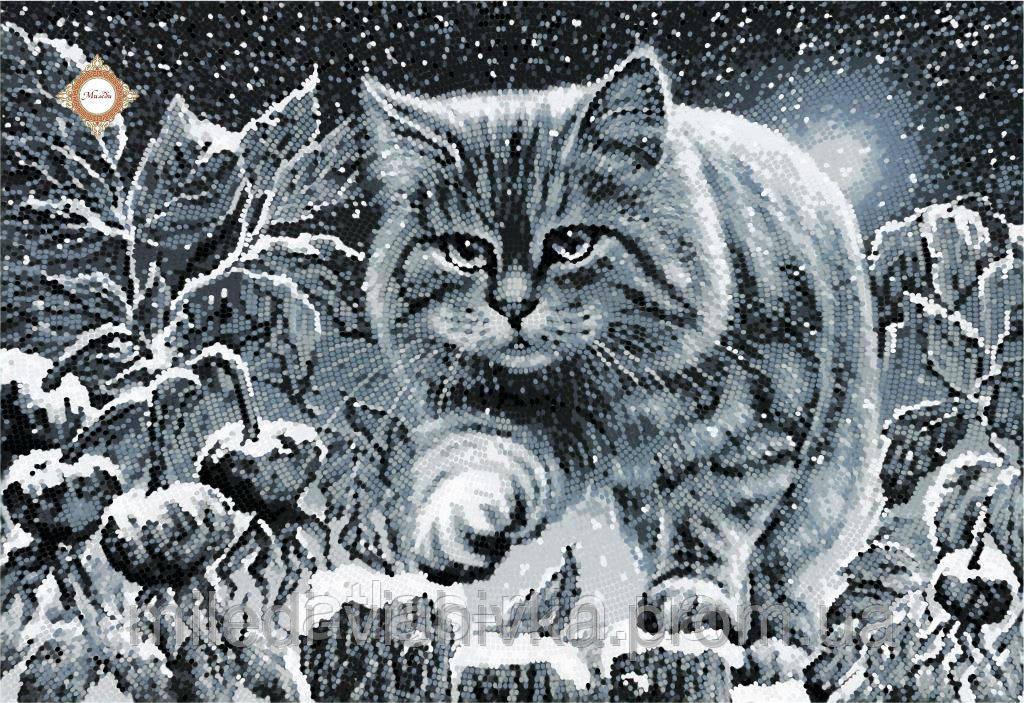 """А3 """"Лунный кот"""" схема для вышивки бисером"""