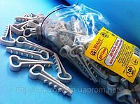 Дюбель хомут-ёлочка 12х6 для плоского кабеля или провода