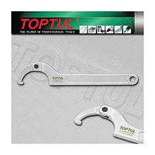 Ключ шарнирный для круглых шлицевых гаек 50-80мм Toptul AEEX1A80 (Тайвань)