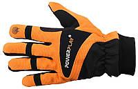 Велоперчатки PowerPlay 6906 FLOU green с, оранжевый