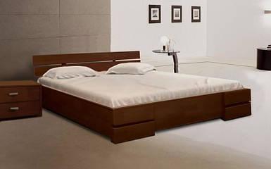 Кровать двуспальная Каролина орех темный