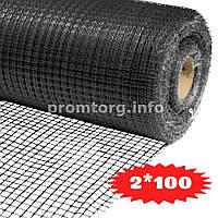 Сетка для птичников У-13 (яч.13ммх15мм) 2х100м цвет черный