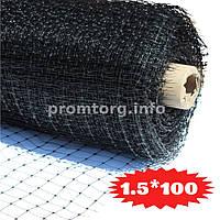 Сетка для птичников Ф-22 (яч.22мм*35мм) 1.5х100м цвет черный