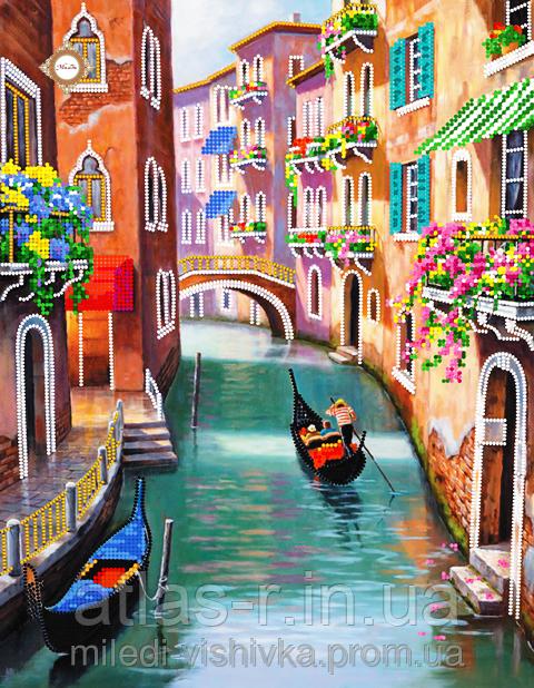 """Схема для вышивки бисером """"Полдень в Венеции"""""""