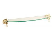 Полка для ванной комнаты KUGU Swan 403G (латунь, золото, стекло)(Бесплатная доставка Новой почтой)