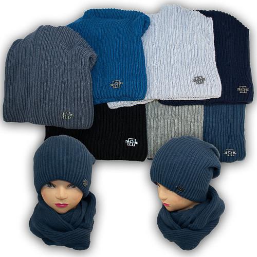 Комплект - шапка и шарф (хомут) для мальчика, Agbo (Польша), подкладка флис, DORIAN 577