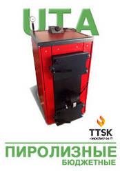 Экономичные пиролизные твердотопливные котлы КОТэко UTA (Юта) 10-20 кВт