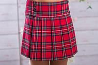 Школьная юбка для девочки складка в клеточку