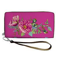 Розовый кошелек с принтом Два мака