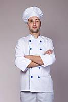 Костюм для повара белого цвета коттон 42-58