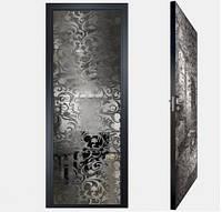 """Межкомнатная дверь """"Графит"""" из зеркал с графитовым покрытием"""