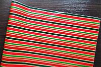 Крафт-бумага подарочная Новогодняя полоска 10 м/рулон