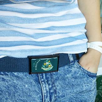 Ремень ткань ZIZ Cтранник синий, фото 2