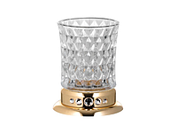 Стакан для зубных щеток KUGU Swan Freestand 350G  (латунь, золото, стекло)(Бесплатная доставка  )
