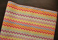 Крафт-бумага подарочная Кривые линии 10 м/рулон