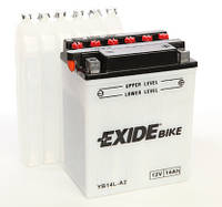 Аккумулятор для мотоцикла сухозаряженный EXIDE YB14L-A2  14AH 134X89X166