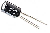 Конденсатор электролитический 100uF 63V