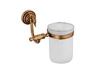 Стакан для зубных щеток KUGU Versace Antique 206A (латунь, бронза, стекло)(Бесплатная доставка Новой почтой)