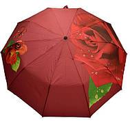 Женский зонт с крупной розой
