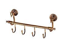 Вешалка для ванной KUGU Versace Antique 210-4A (латунь, бронза)(Бесплатная доставка Новой почтой)