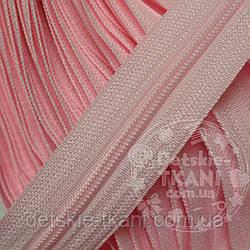 Молния рулонная розового цвета, Т3 (метражом)