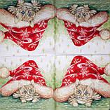 Декупажные салфетки Новогодний кот 798, фото 2