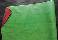 Крафт-бумага подарочная Зелено-красный 10 м/рулон