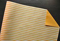 Крафт-бумага подарочная Золотая полоска 10 м/рулон