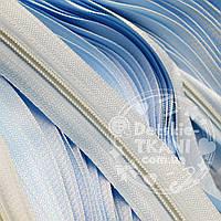 Молния рулонная голубого цвета, Т3 (метражом)