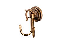Крючок двойной KUGU Versace Antique 210A (латунь, бронза)(Бесплатная доставка  )
