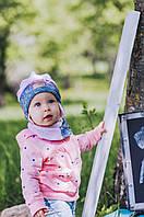 Детская шапка (набор) для девочек КАСПА оптом размер 42-44-46