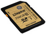 Карта памяти Kingston  256GB SDHC C10 UHS-I R90/W45MB/s (SDA10/256GB)