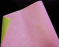 Крафт-бумага подарочная Розово-салатовая 10 м/рулон