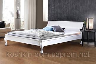 Ліжко двоспальне Ніколь біла 180*200 масив сосни