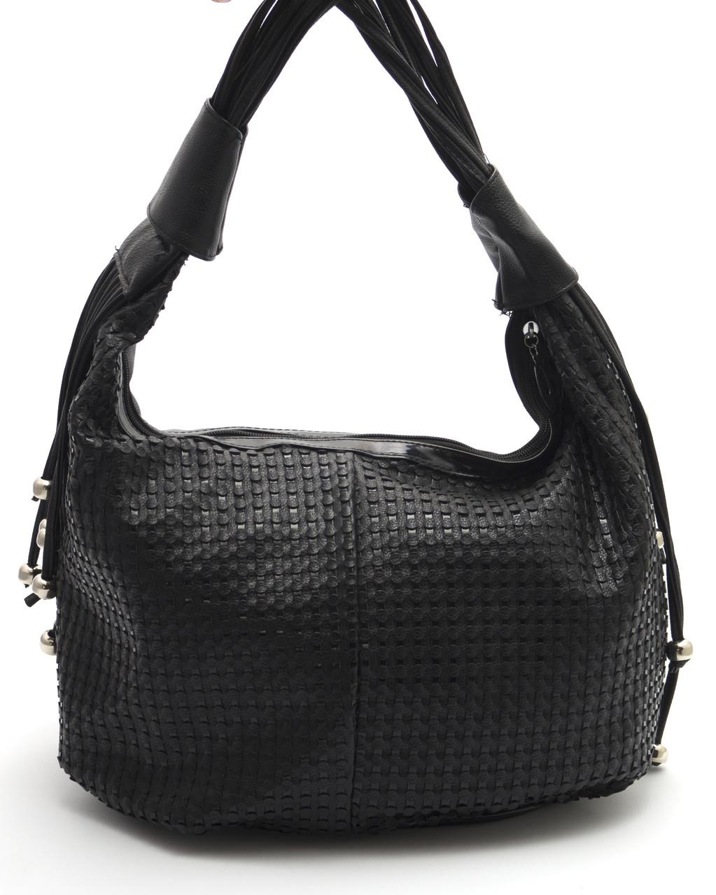 Черная женская сумка плетенка Б/Н art. 163