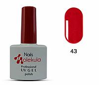 Гель-лак для ногтей Nails Molekula №43 яркая малина