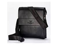 Мужская сумка на плечо Giorgio Armani черная 886, фото 1