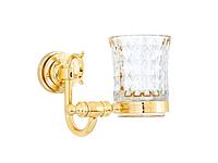 Стакан для зубных щеток KUGU Versace 206G  (латунь, золото, стекло)(Бесплатная доставка Новой почтой)
