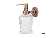 Дозатор для жидкого мыла Versace 214G (латунь, золото, стекло)(Бесплатная доставка Новой почтой)
