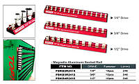 "Держатель для головок (планка магнитная) 1/2""*240*10PCS PBKB2R2410 (Toptul, Тайвань)"