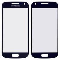 Стекло сенсорного экрана Samsung S4 mini blue