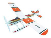 Самолет резиномоторный гидроплан ZT Model Aviator 460 мм (модель самолета, сборные модели самолетов)