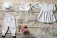 Комплект для крещения девочки Праздничный
