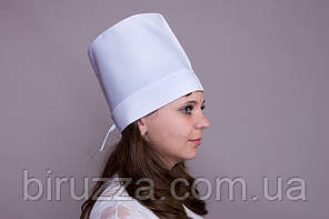 Медицинская шапка белая для врача (коттон)