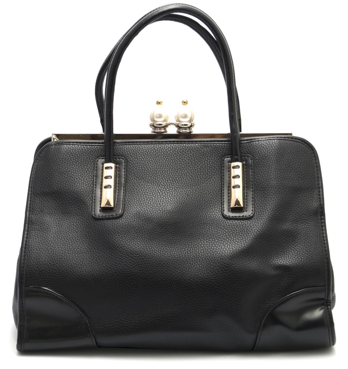 Красивая женская сумка  Б/Н art. 392 черный цвет