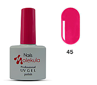 Гель-лак для ногтей Nails Molekula №45 ягодно-пурпурный