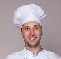 Шапка для повара белая  (коттон)